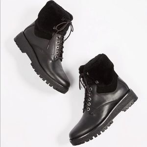 Michael kors Leather Teddy Hiking Boots